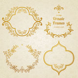 Vector set of vintage ornaments in Eastern style. Stock Images