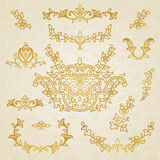 Vector set of vintage ornaments in Eastern style. Royalty Free Stock Photos