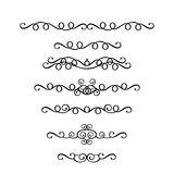 Vector set of vintage ornaments in Victorian style Stock Photos