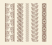 Vector set vintage ornate borders Stock Image