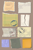 Vector set vintage paper Royalty Free Stock Images