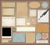 Vector set : vintage paper Stock Images