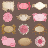 Vector Set: Vintage Paper Frame collection Royalty Free Stock Image