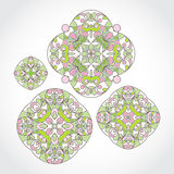 Vector set of vintage pattern in Eastern style. Stock Photos