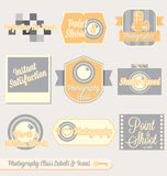 Vector Set: Vintage Photography Class Labels. Collection of retro style photography class labels for back to school at college of high school Royalty Free Stock Image