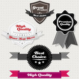 Set of vintage premium and high quality labels Stock Image