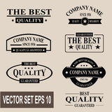 Vector set of vintage quality guaranteed labels Stock Photography