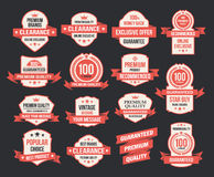 Vector set of vintage retro labels Stock Image
