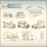 Vector set of  vintage retro vehicle  Royalty Free Stock Photography