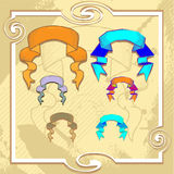 Vector set of vintage ribbons Royalty Free Stock Images