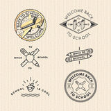 Vector set vintage school labels Royalty Free Stock Photos