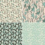 Vector set with vintage seamless patterns Royalty Free Stock Photography