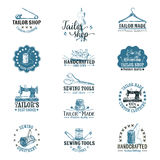 Vector set of vintage tailor labels, badges and Stock Images