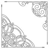 Vector Set of Vintage Template with Ornate Lace Corners Stock Image