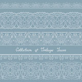 Vector Set of Vintage Template with Ornate Laces Royalty Free Stock Photography