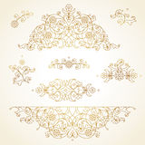 Vector set of vintage vignettes in Eastern style. Stock Photography
