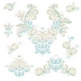 Vector set of vintage vignettes in Victorian style. Stock Photography