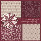 Vector set of Wallpaper, Christmas gift paper Royalty Free Stock Photo
