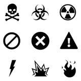 Vector Set of Warning Icons Royalty Free Stock Photo