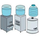 Vector set of water cooler. Hand drawn cartoon, doodle illustration Stock Photos