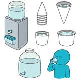 Vector set of water cooler. Hand drawn cartoon, doodle illustration Royalty Free Stock Photography