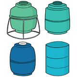 Vector set of water storage tank Stock Photography