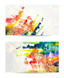Vector set of watercolor backgrounds. EPS 10 Stock Photo