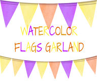 VECTOR set of watercolor flags, festive background. VECTOR set of watercolor flags, festive background isolated on white Royalty Free Stock Photography