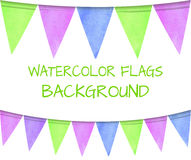 VECTOR set of watercolor flags, festive colorful background. VECTOR set of watercolor flags, festive colorful background isolated on white Royalty Free Stock Photo
