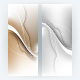 Vector set wave elements background Stock Images