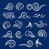 Vector Set of  wave icons Stock Images