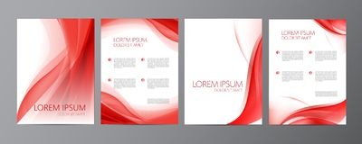Vector set of wavy abstract covers, brochures. Flyers Stock Photography