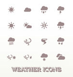 Vector Set: Weather Icons Stock Photography