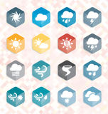 Vector Set: Weather Web Icons and Buttons Stock Photos