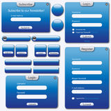 Vector set: web forms Stock Image