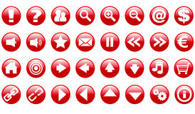 Vector set of web icons Stock Photos
