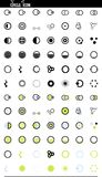 Vector set web icons. circles and round Stock Image