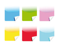 Vector set of web stickers Royalty Free Stock Photo