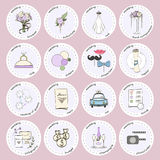 Vector set with wedding icons and elements. Used for wedding info graphics, websites, business presentations, wedding agency`s plans Stock Photos