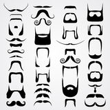 Vector set of whiskers Royalty Free Stock Images