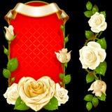 Vector set of White Roses Decoration royalty free illustration