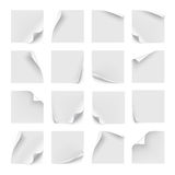 Vector set of white stickers Stock Photography