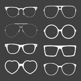 Vector set of white sunglasses frames Royalty Free Stock Images