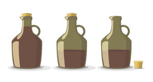 Vector set of wine bottles Royalty Free Stock Photos