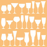 Vector set of wine glass Stock Photography