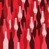Vector set of wine or vinegar bottles silhouettes Royalty Free Stock Photo