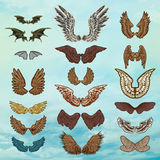 Vector set of wings Stock Photos