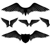Vector set. Wings. Royalty Free Stock Photography