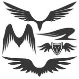 Vector set. Wings. Royalty Free Stock Images