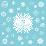 Vector set of 32 winter elements for your design Royalty Free Stock Photos